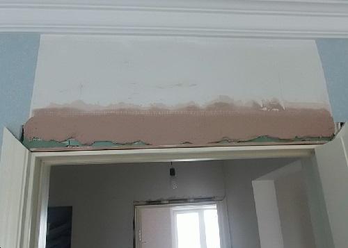 """Выравнивание стен с пременением сетки """"Строби"""" и шпаклевки"""