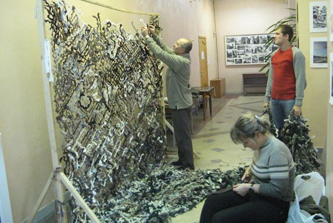 Способ плетения маскировочной сетки своими руками