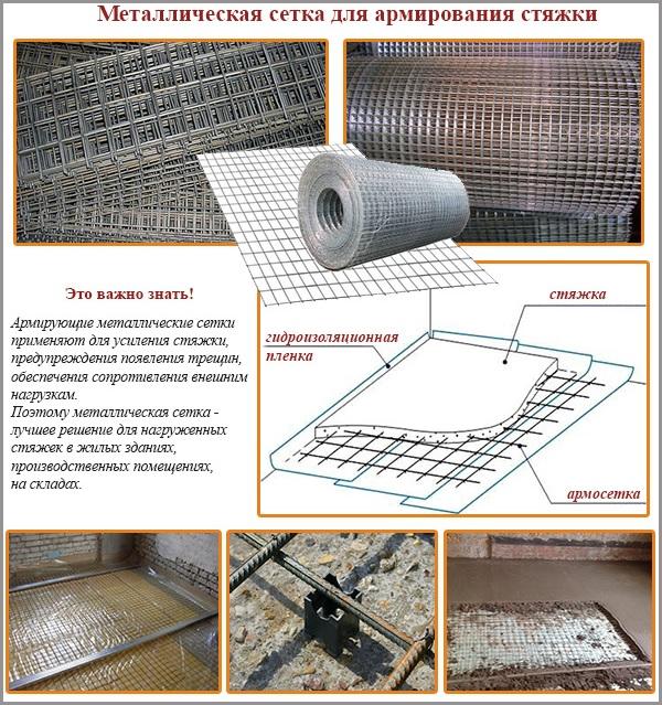 Схема применения металлической секи для стяжки