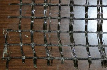 Базальтовая сетка для кладки кирпича, вблизи