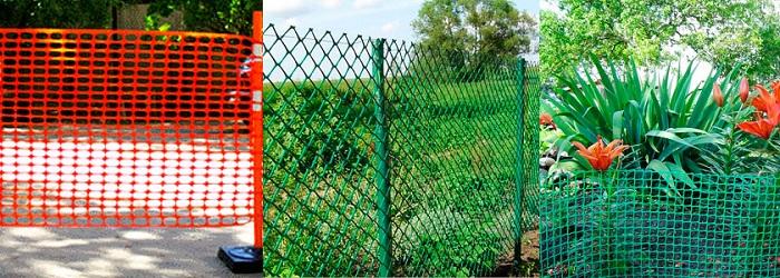 Использование садовых пластиковых сеток в качестве ограждения