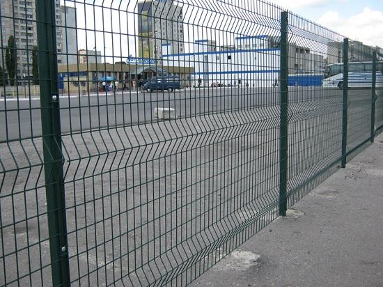 Забор из сварной холоднотянутой сетки