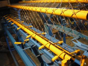 Автоматика для создания сетки рабицы, в рабочих условиях