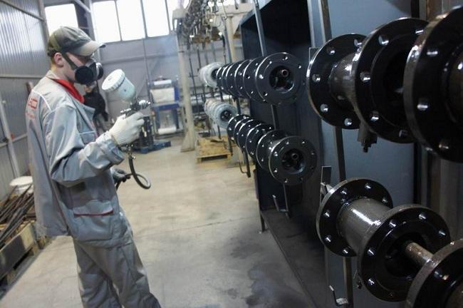 Цех покраски вентилей «ALSO» на заводе