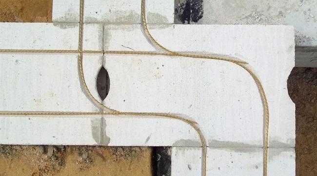 Стеклопластиковая арматура в штробах