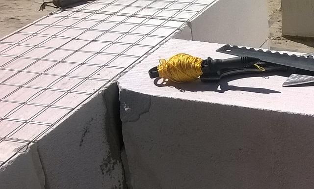 Армирование газобетона сеткой