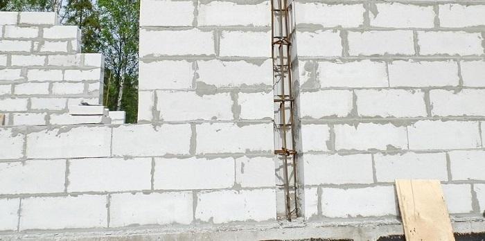 Вертикальное армирование в разрезе