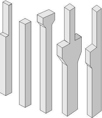 Схематическое изображение колонн с консолью и капителью