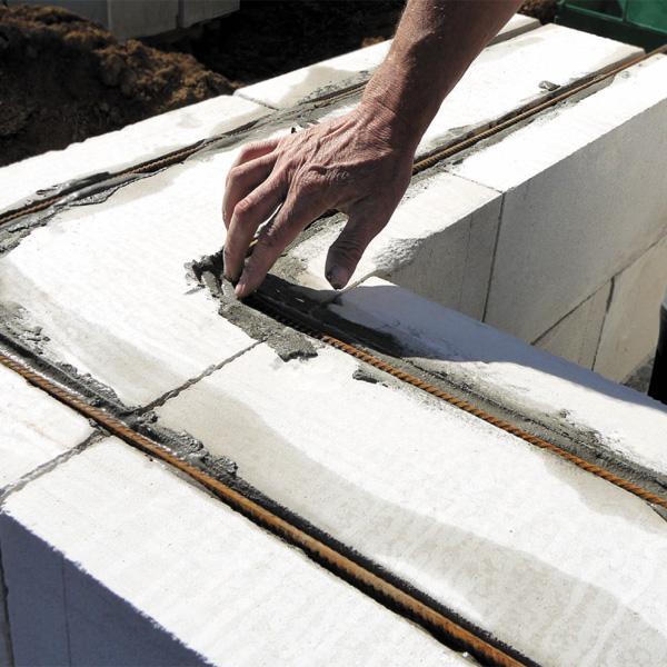 Армирование кладки из газоблока
