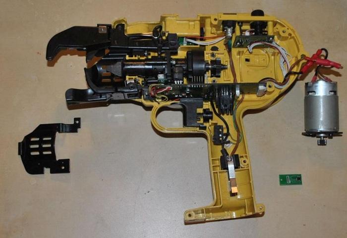 Устройство пистолета для вязки арматуры