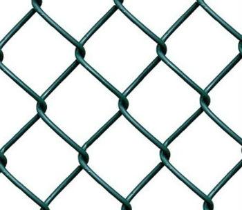Сетка рабица с полимерным покрытием (вид вблизи)